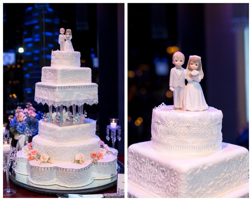 Wedding Cake Topper Homemade | Blue & White Glamorous Wedding The Abbey The Mezz Anna Christine Events Kathy Thomas Photography