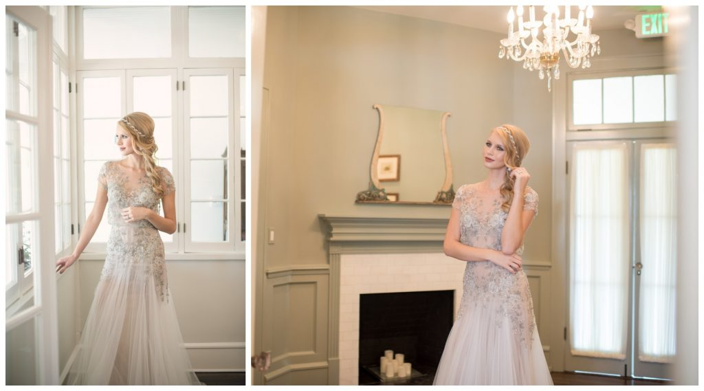 Bride Wedding Dress The Collection Bridal Headpiece Maria Elena Headpieces | Wedding Photo Shoot Historic Estate Capen Showalter House Serenity Rose Quartz Florida Anna Christine Events