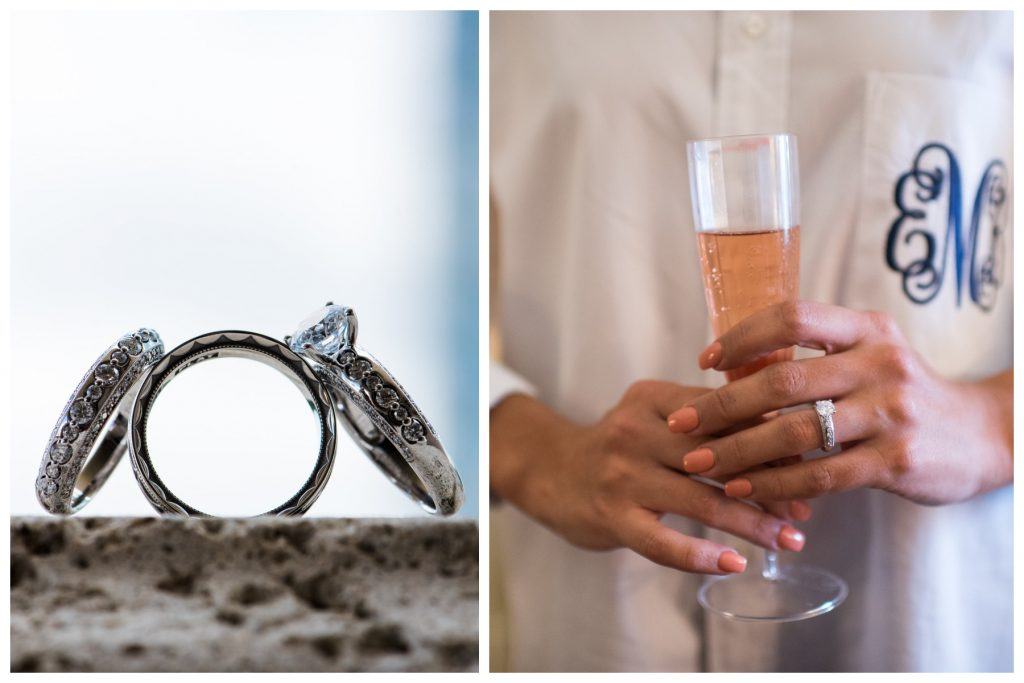 Getting Ready Champagne Engagement Wedding Rings Manicure | Blue & White Glamorous Wedding The Abbey The Mezz Anna Christine Events
