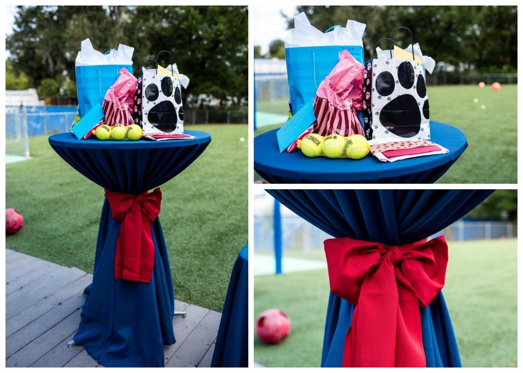 Gift Table Dog | Carter the Corgi Birthday Party Baseball Theme Orlando Canine Country Club Anna Christine Events Cute