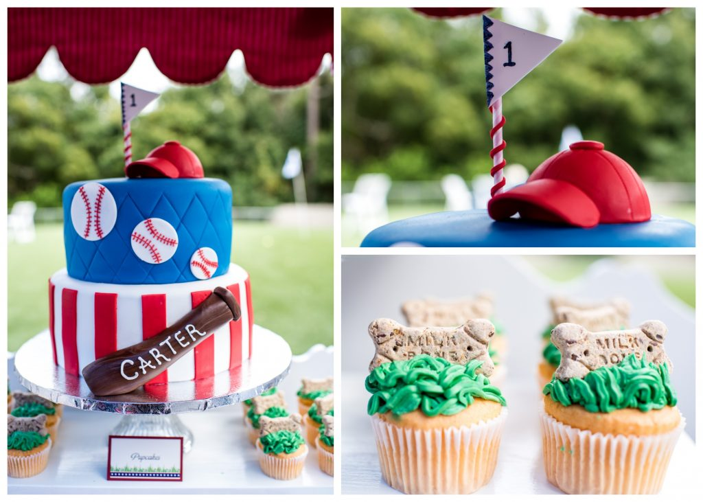 Cut the Cake Dog-Friendly Pupcakes Cupcakes Baseball Bat Hat | Carter the Corgi Birthday Party Baseball Theme Orlando Canine Country Club Anna Christine Events Cute