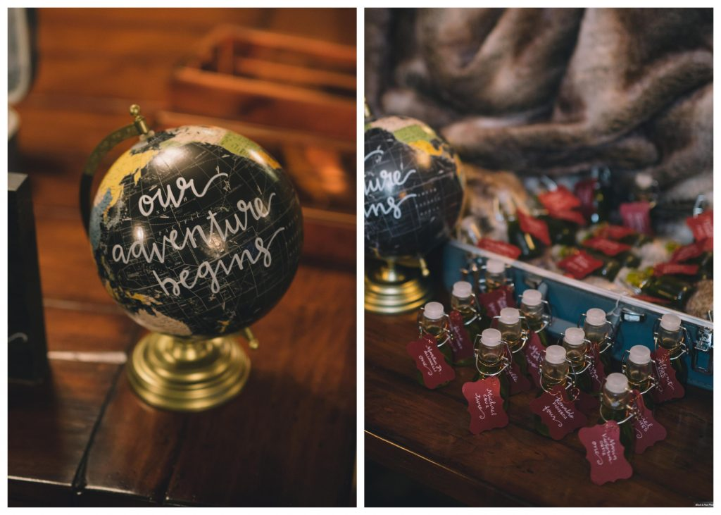 Table Seating Assignments Bottles Globe Our Adventure Begins Travel | Boho Chic Rustic Nature Bella Collina Wedding Anna Christine Events Black & Hue Photography
