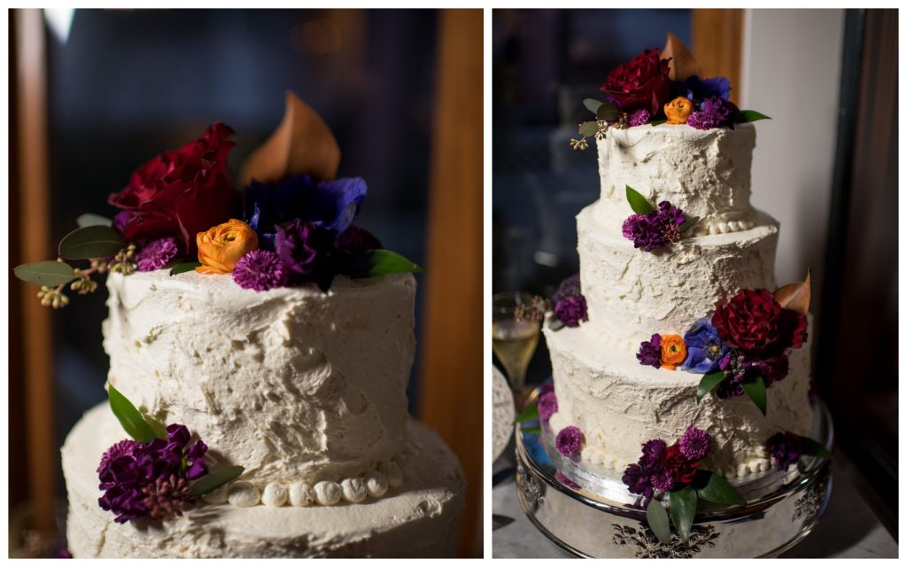 Bride's Cake Wedding Publix Bakery | The Courtyard at Lake Lucerne Classic Purple & Orange Wedding Football Texas Longhorns Sports Lake Lucerne Courtyard Anna Christine Events Orlando Kathy Thomas Photography