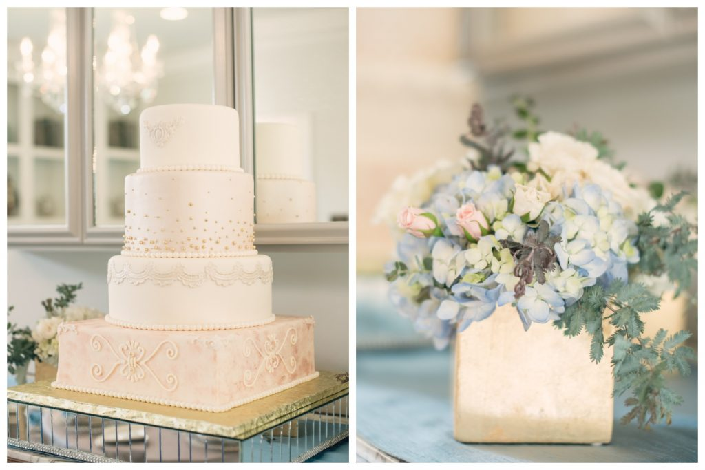 Cake Detail Cut the Cake Bluegrass Chic Floral Orlando | Wedding Photo Shoot Historic Estate Capen Showalter House Serenity Rose Quartz Florida Anna Christine Events