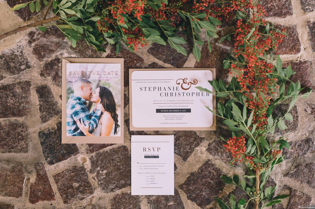Invitations Save the Date | Boho Chic Rustic Nature Bella Collina Wedding Anna Christine Events Black & Hue Photography