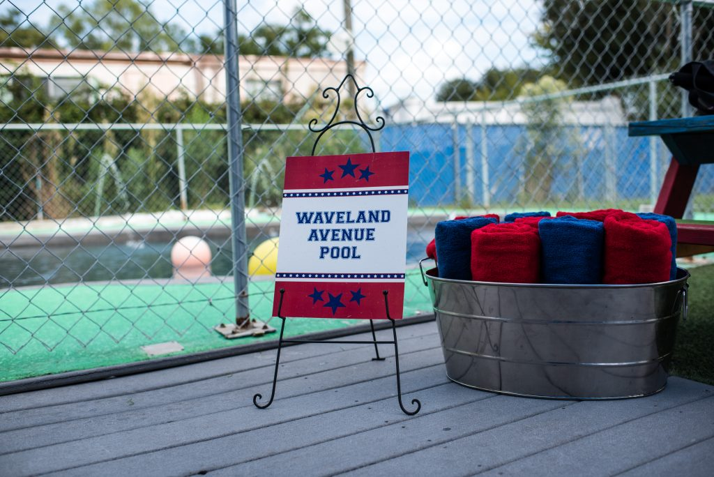 Waveland Avenue Pool Towels Dogs | Carter the Corgi Birthday Party Baseball Theme Orlando Canine Country Club Anna Christine Events Cute
