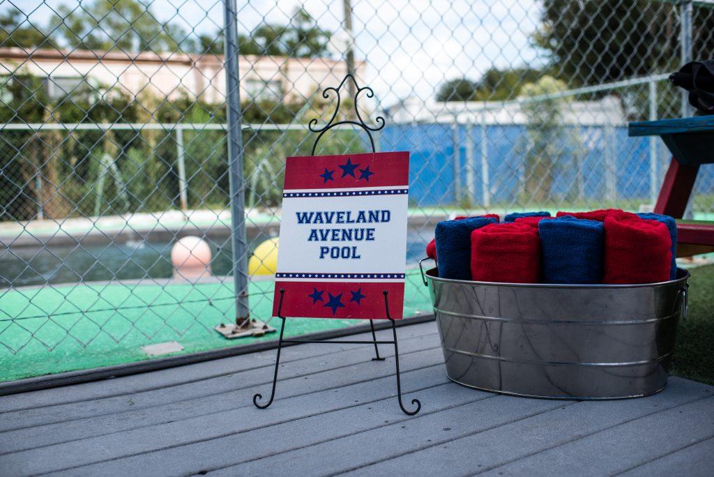 Waveland Avenue Pool Towels Dogs | Carter the Corgi Birthday Party Baseball Theme Orlando Canine Country Club Anna Christine Events Cute