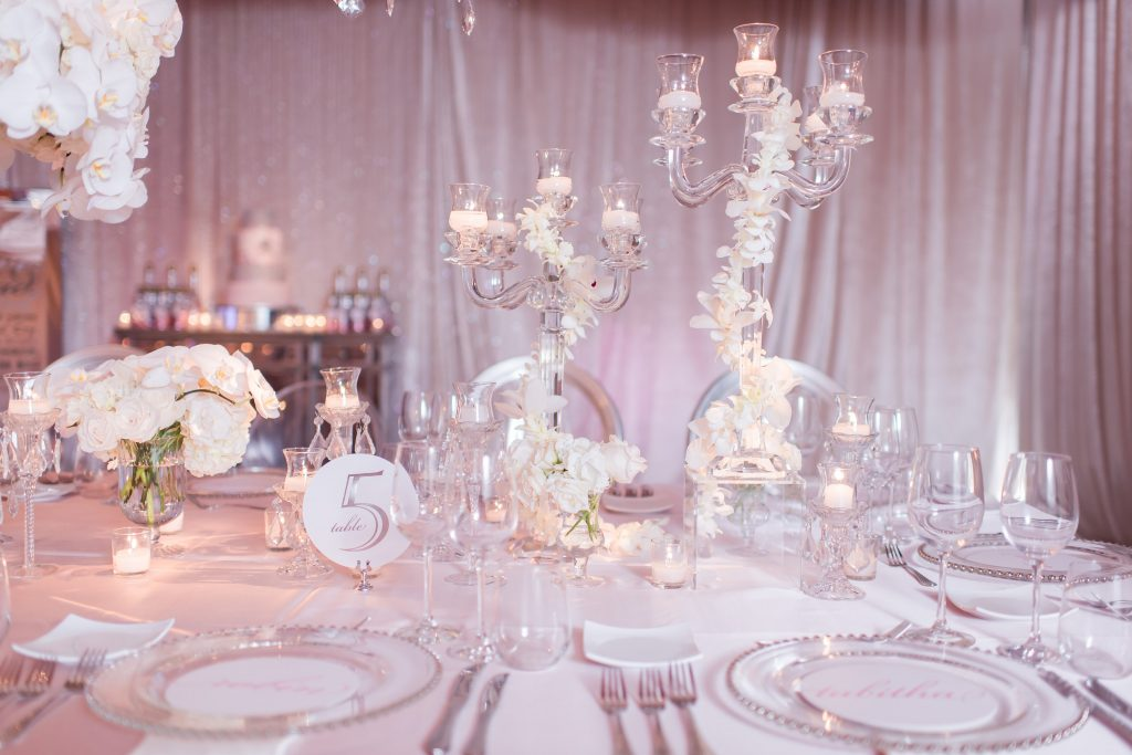 Table Decor Assignment Card Setting | Our DJ Rocks 5 Year Anniversary Party Heaven Event Center Anna Christine Events
