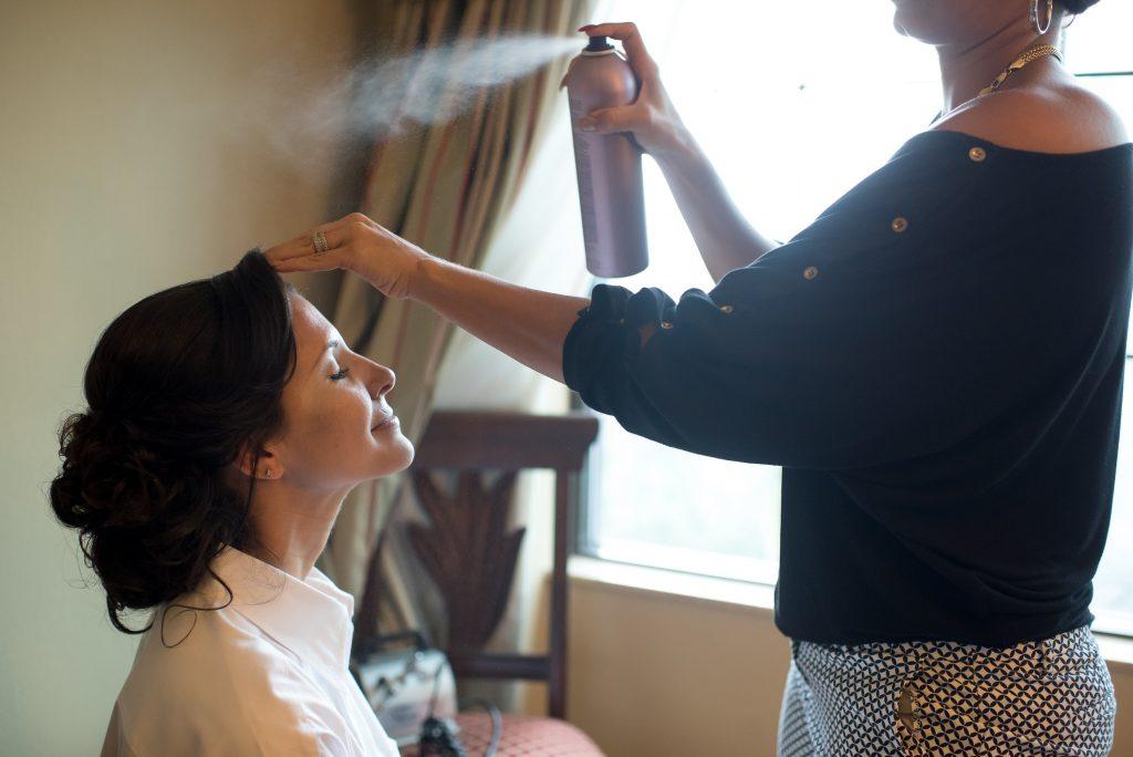 Hair Make Up | Blue & White Glamorous Wedding The Abbey The Mezz Anna Christine Events