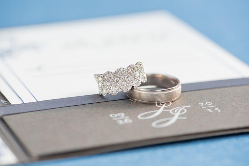 Ceremony The Rings | Wedding Photo Shoot Historic Estate Capen Showalter House Serenity Rose Quartz Florida Anna Christine Events