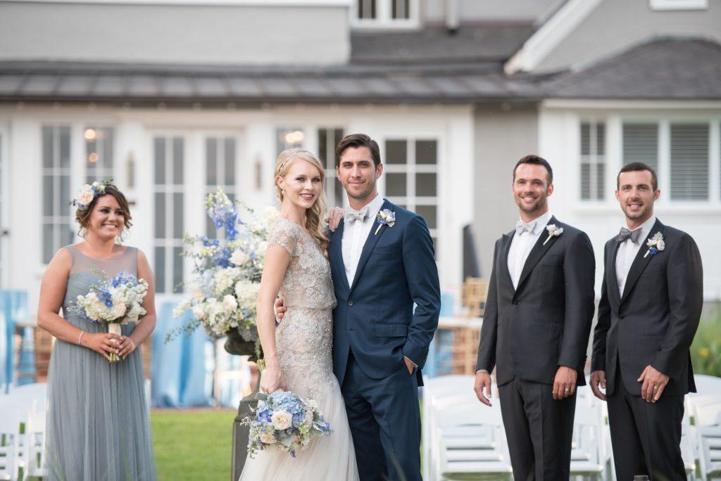 Ceremony Bride Groom Outdoor Wedding Party | Wedding Photo Shoot Historic Estate Capen Showalter House Serenity Rose Quartz Florida Anna Christine Events