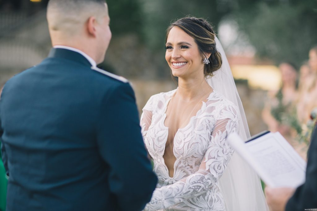 Bella Collina Outdoor Ceremony Bride Groom | Boho Chic Rustic Nature Bella Collina Wedding Anna Christine Events Black & Hue Photography