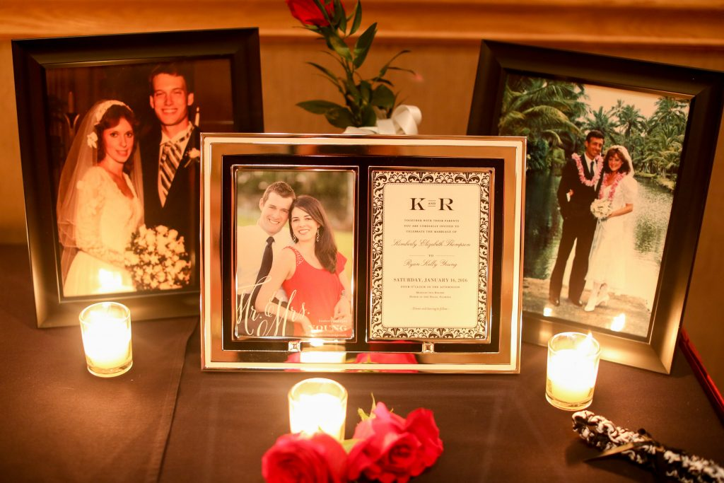 Candles Invitation Wedding Display Parents | Red & Black Wedding Classic Romantic Dark Mission Inn Resort Anna Christine Events Wings of Glory Photography