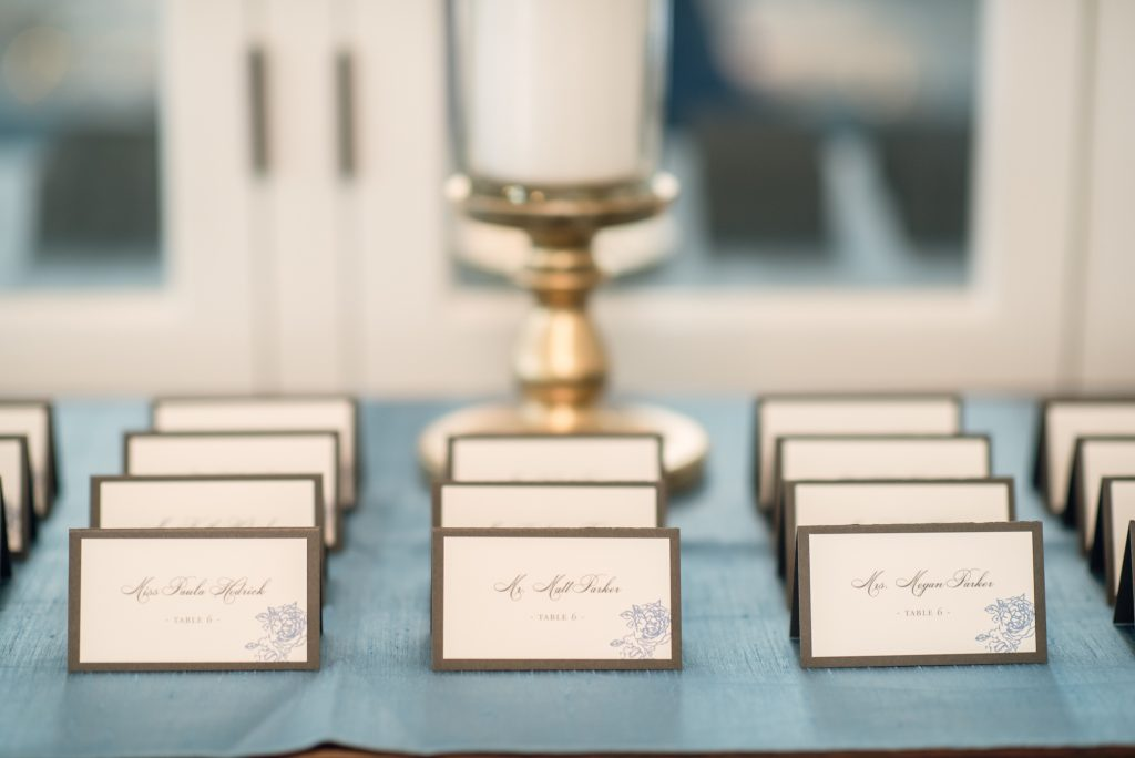 Table Assignments Dogwood Blossom Stationary | Wedding Photo Shoot Historic Estate Capen Showalter House Serenity Rose Quartz Florida Anna Christine Events