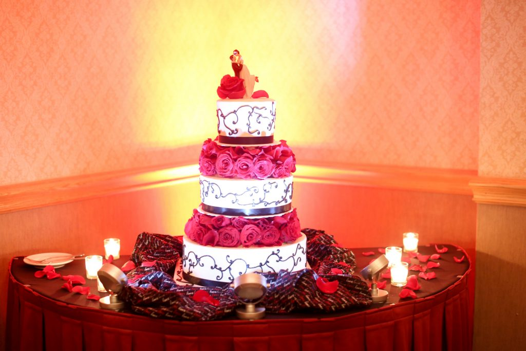 Wedding Cake Incredible Edible Cakes | Red & Black Wedding Classic Romantic Dark Mission Inn Resort Anna Christine Events Wings of Glory Photography