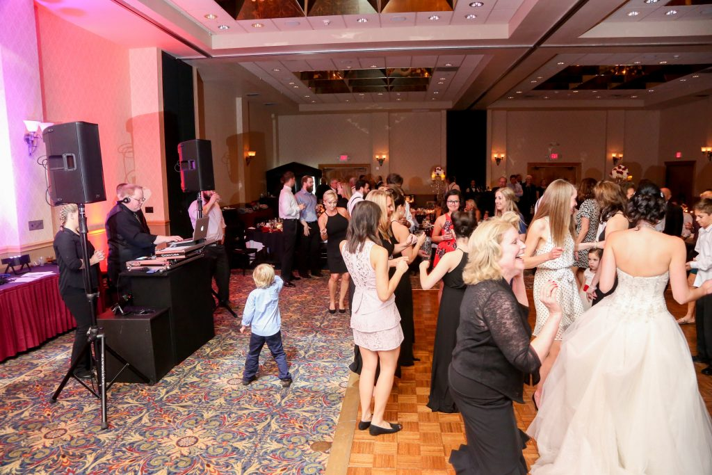 DJ White Rose Entertainment | Red & Black Wedding Classic Romantic Dark Mission Inn Resort Anna Christine Events Wings of Glory Photography