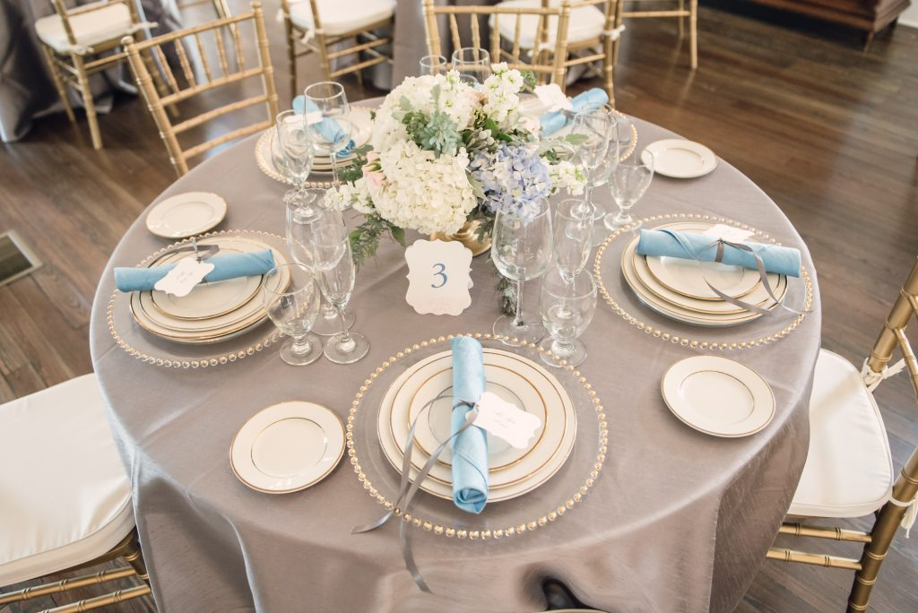 Reception Dinner Bluegrass Chic Orlando Wedding and Party Rentals | Wedding Photo Shoot Historic Estate Capen Showalter House Serenity Rose Quartz Florida Anna Christine Events