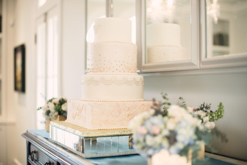 Cake Detail Cut the Cake Orlando | Wedding Photo Shoot Historic Estate Capen Showalter House Serenity Rose Quartz Florida Anna Christine Events