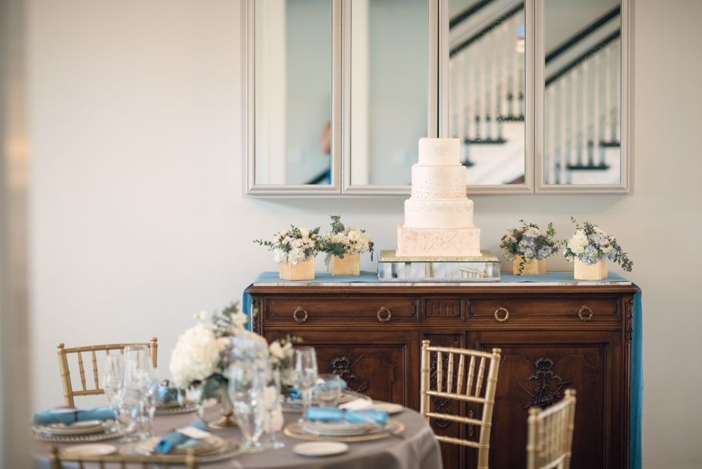 Cake Detail Cut the Cake Orlando | Wedding Photo Shoot Historic Estate Capen Showalter House Serenity Rose Quartz Florida Anna Christine Events