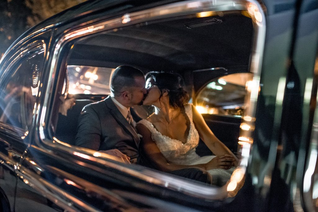 Getaway Car Southern Limousine | Blue & White Glamorous Wedding The Abbey The Mezz Anna Christine Events Kathy Thomas Photography