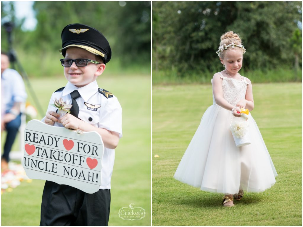 Flower Girl Captain Ring Bearer Sign | Travel Themed Inspired Wedding Mission Inn Resort Orlando Florida Anna Christine Events Cricket's Photo & Cinema