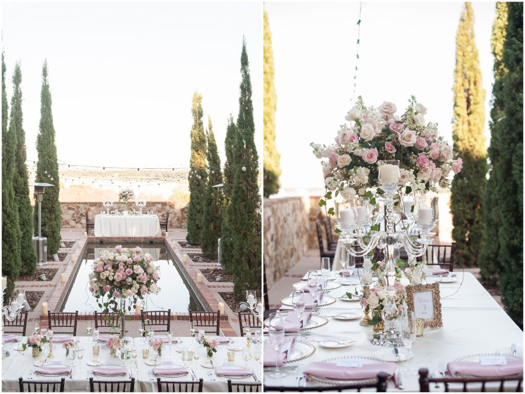 Reception Set up Tables | Classic Pink and White Wedding Bella Collina Kathy Thomas Photography Anna Christine Events