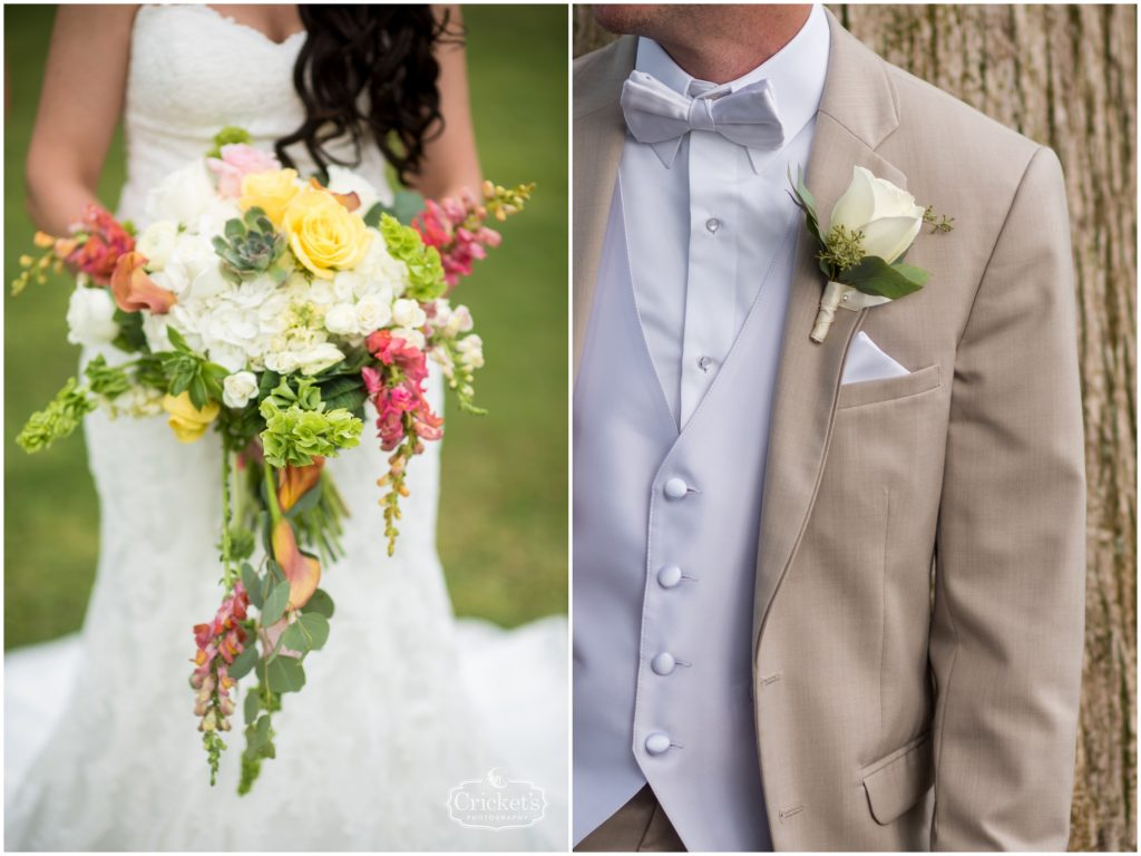 Flowers Florist Bride Bouquet Groom Boutonniere Claudia's Pearl Florist | Travel Themed Inspired Wedding Mission Inn Resort Orlando Florida Anna Christine Events Cricket's Photo & Cinema