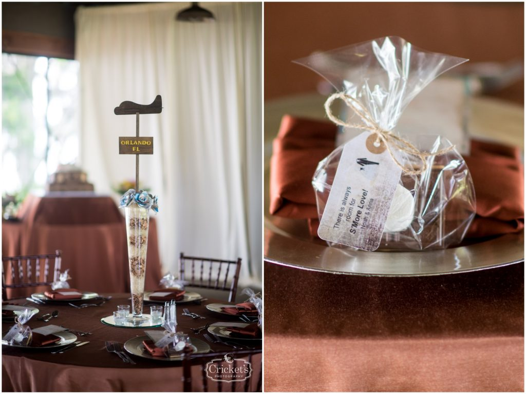 Table Decorations Centerpieces Favors S'Mores | Travel Themed Inspired Wedding Mission Inn Resort Orlando Florida Anna Christine Events Cricket's Photo & Cinema