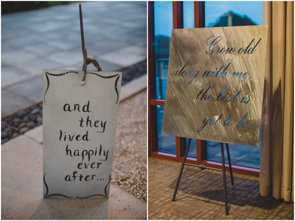 Happily ever after grow old sign welcome reception | Rustic Chic Wedding Romantic Ashley Jane Photography Streamsong Resort Florida Orlando Wedding Planner Anna Christine Events