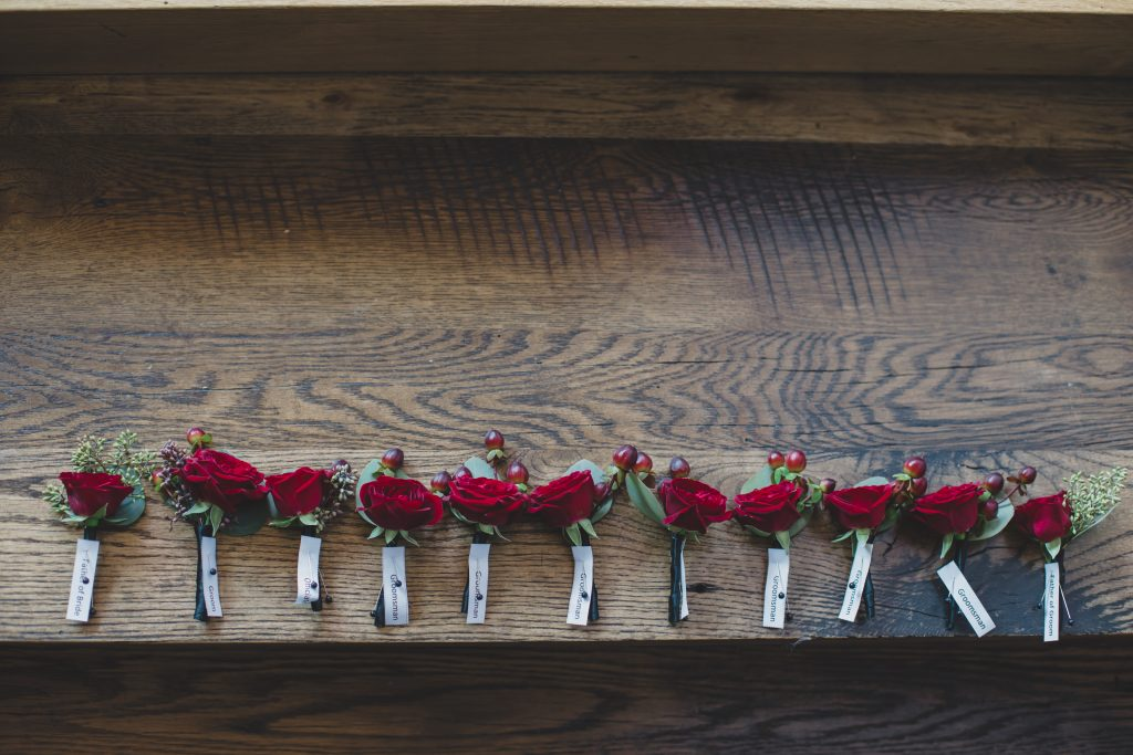 Boutonnieres Events in Bloom | Rustic Chic Wedding Romantic Ashley Jane Photography Streamsong Resort Florida Orlando Wedding Planner Anna Christine Events