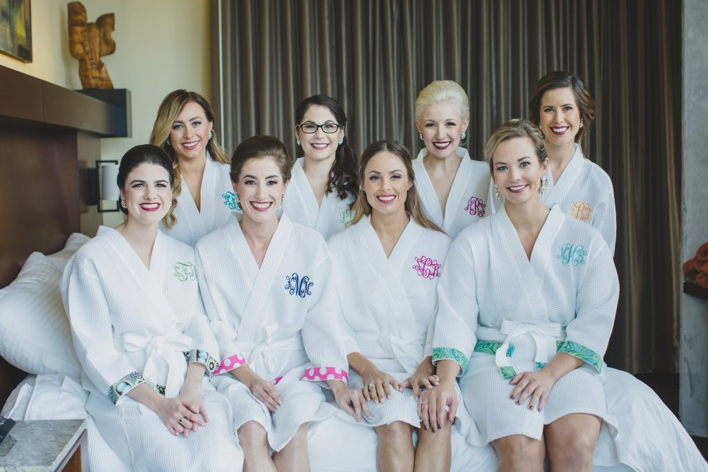 Bride & bridesmaids getting ready in robes } Rustic Chic Wedding Romantic Ashley Jane Photography Streamsong Resort Florida Orlando Wedding Planner Anna Christine Events