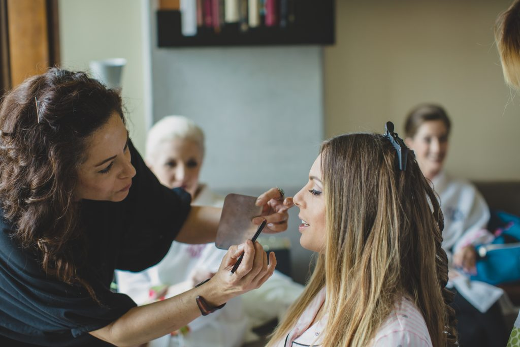 Bride getting ready hair & make-up | Rustic Chic Wedding Romantic Ashley Jane Photography Streamsong Resort Florida Orlando Wedding Planner Anna Christine Events