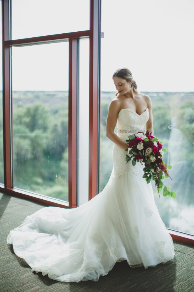 Bride in wedding gown Anne Barge | Rustic Chic Wedding Romantic Ashley Jane Photography Streamsong Resort Florida Orlando Wedding Planner Anna Christine Events