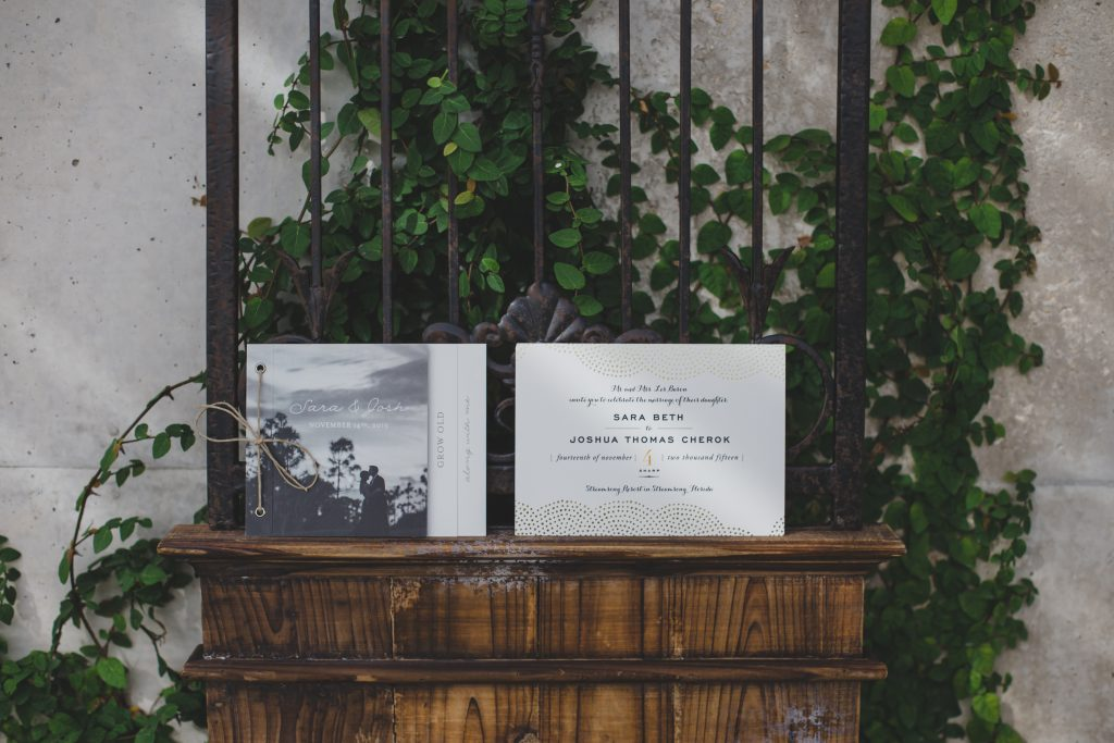 Invitations book | Rustic Chic Wedding Romantic Ashley Jane Photography Streamsong Resort Florida Orlando Wedding Planner Anna Christine Events