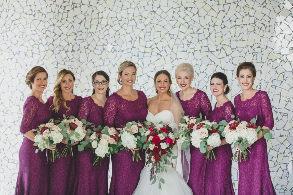Bride & bridesmaids purple dresses | Rustic Chic Wedding Romantic Ashley Jane Photography Streamsong Resort Florida Orlando Wedding Planner Anna Christine Events