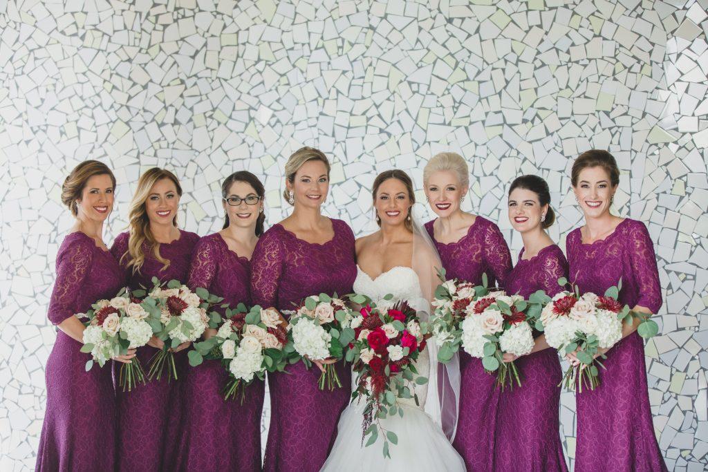 Bride & bridesmaids purple dresses | Rustic Chic Wedding Romantic Ashley Jane Photography Streamsong Resort Florida Orlando Wedding Planner Anna Christine Events