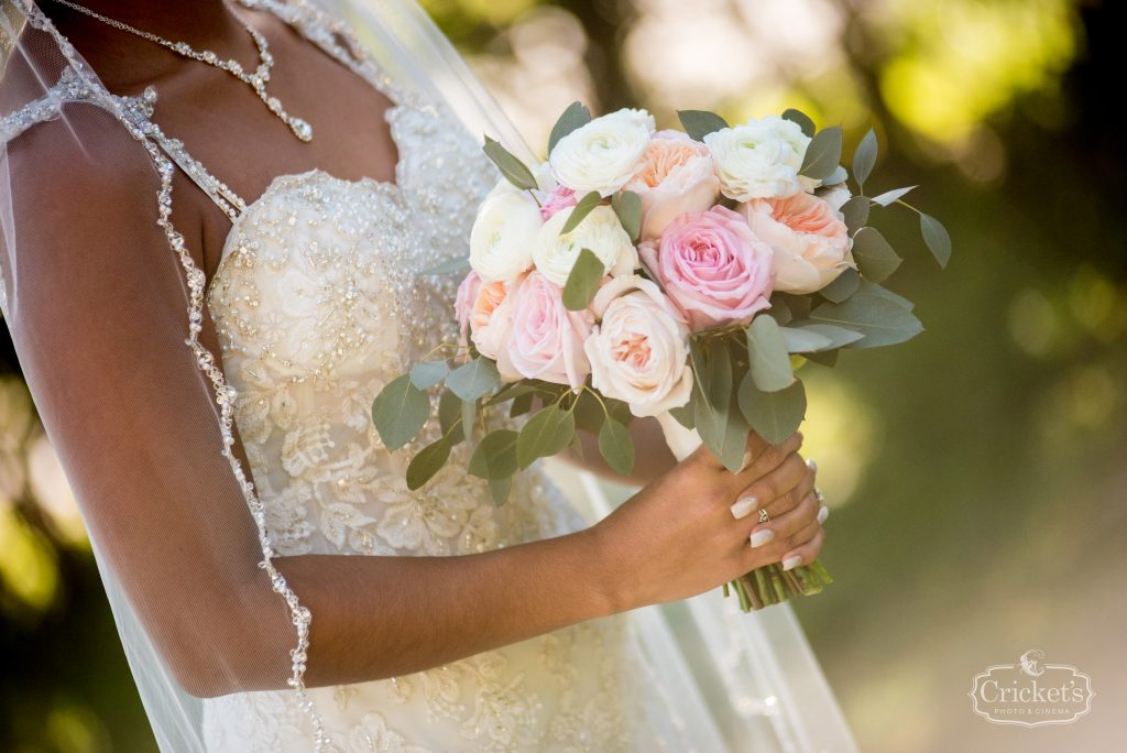 Bride's Bouquet Flowers by Lesley | Classic Pink & White Beach Wedding Paradise Cove Lakeside Orlando Anna Christine Events Cricket's Photography
