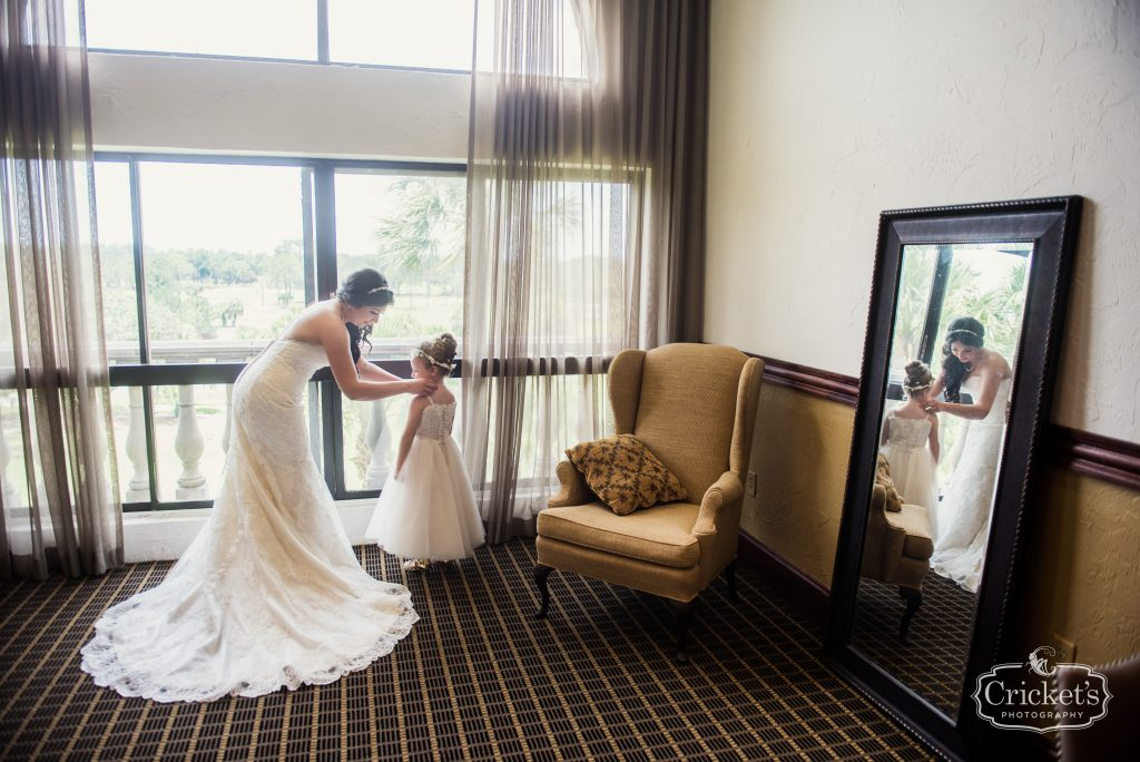Bride Getting Ready Flower Girl | Travel Themed Inspired Wedding Mission Inn Resort Orlando Florida Anna Christine Events Cricket's Photo & Cinema