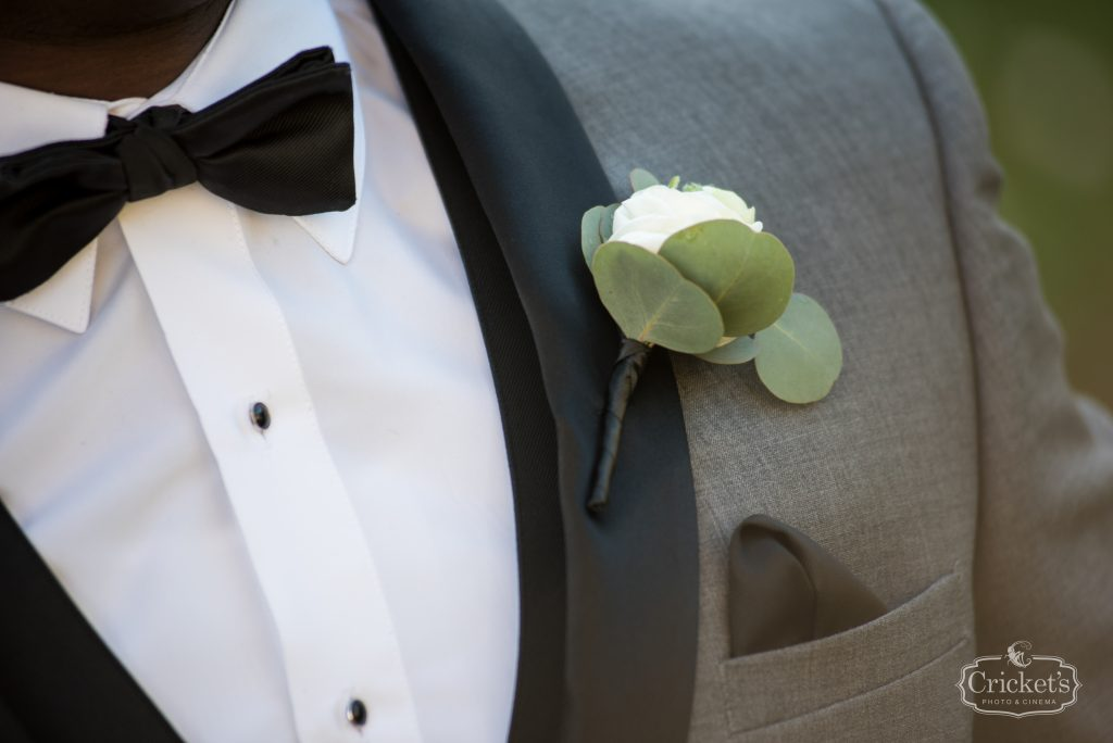 Groom Boutonniere Flowers by Lesley | Classic Pink & White Beach Wedding Paradise Cove Lakeside Orlando Anna Christine Events Cricket's Photography