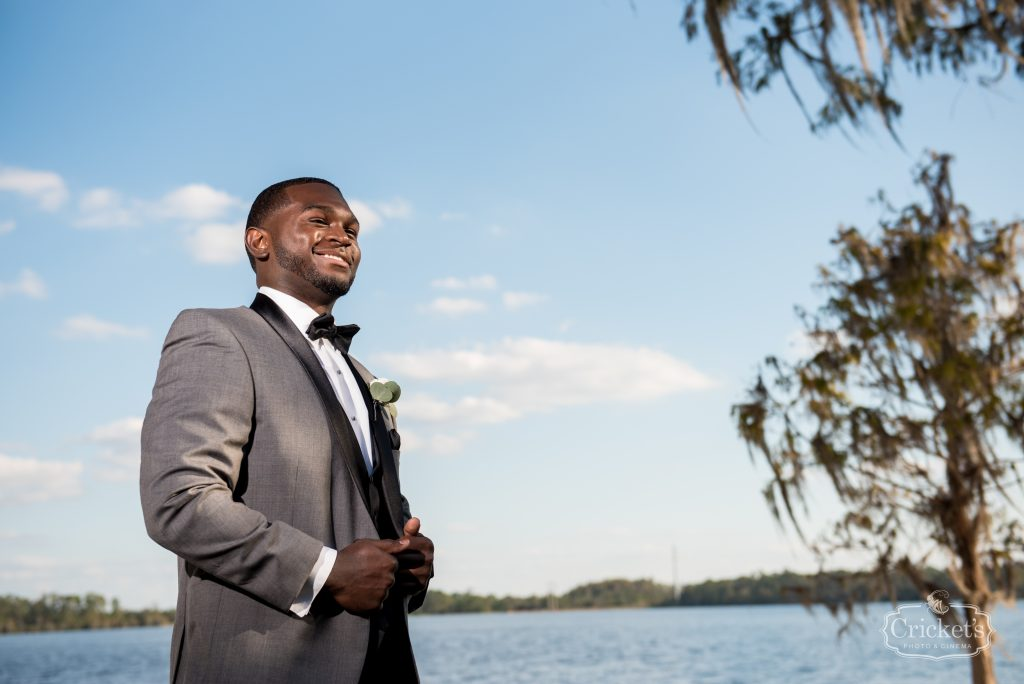 Groom Before Wedding | Classic Pink & White Beach Wedding Paradise Cove Lakeside Orlando Anna Christine Events Cricket's Photography