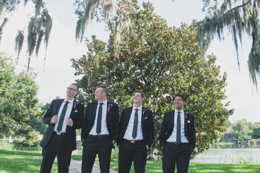 Groom & groomsmen before | Nerd Geek Chic Wedding Theme Game of Thrones Harry Potter Super Mario Orlando Science Center Anna Christine Events Orlando Wedding Planner Ashley Jane Photography