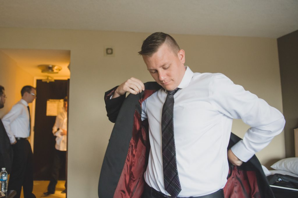 Groom getting ready | Nerd Geek Chic Wedding Theme Game of Thrones Harry Potter Super Mario Orlando Science Center Anna Christine Events Orlando Wedding Planner Ashley Jane Photography