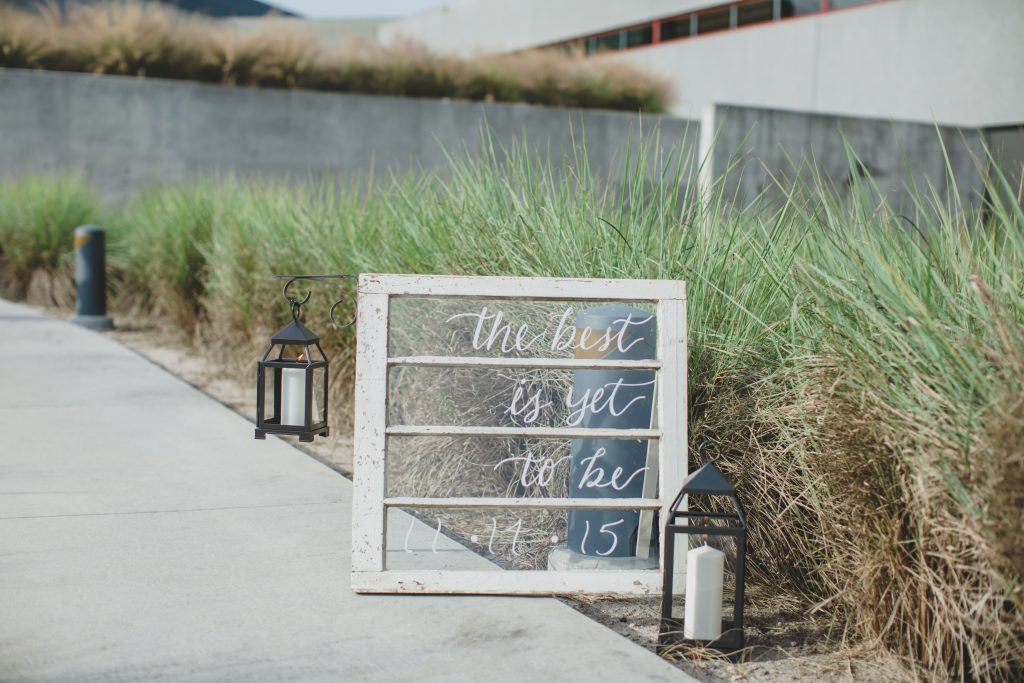 Signs on way to ceremony | Rustic Chic Wedding Romantic Ashley Jane Photography Streamsong Resort Florida Orlando Wedding Planner Anna Christine Events