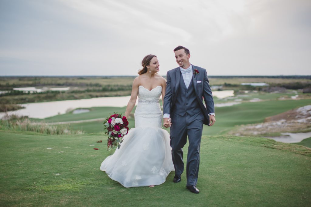 Bride & groom outdoors | Rustic Chic Wedding Romantic Ashley Jane Photography Streamsong Resort Florida Orlando Wedding Planner Anna Christine Events