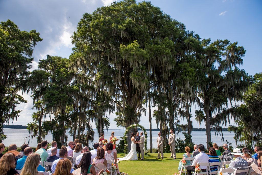 Bride & Groom Ceremony Outdoor Venue | Travel Themed Inspired Wedding Mission Inn Resort Orlando Florida Anna Christine Events Cricket's Photo & Cinema