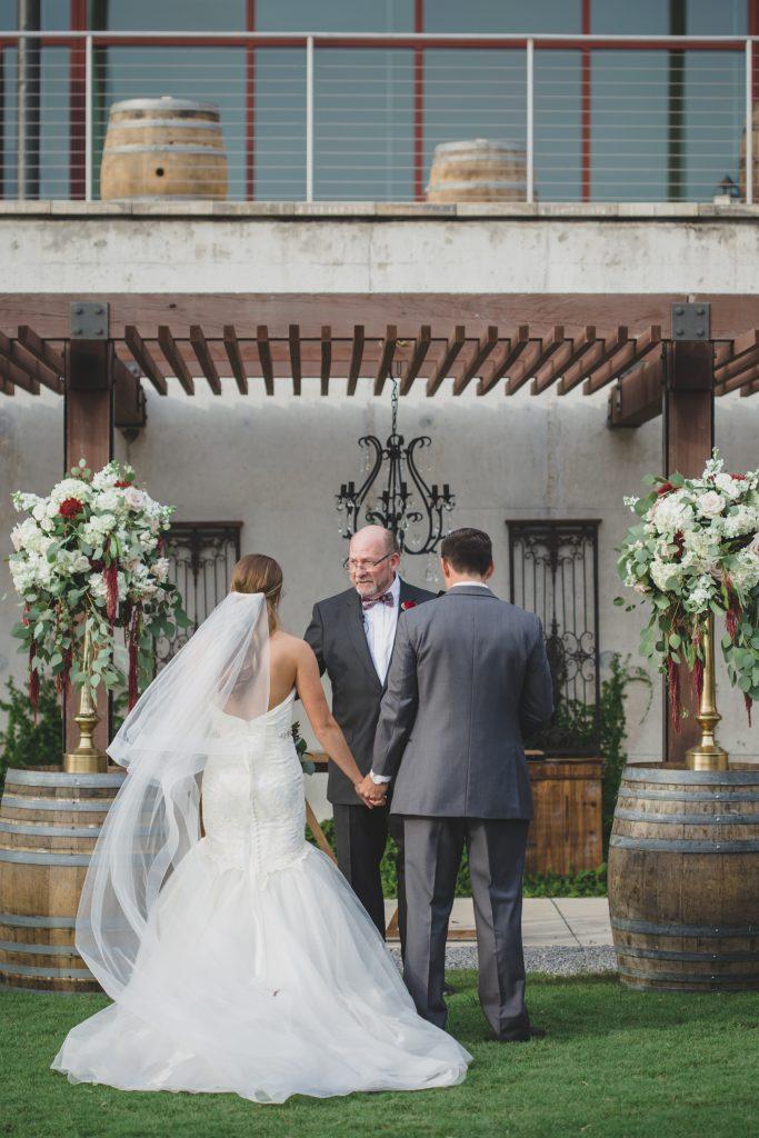 Bride & groom at altar | Rustic Chic Wedding Romantic Ashley Jane Photography Streamsong Resort Florida Orlando Wedding Planner Anna Christine Events