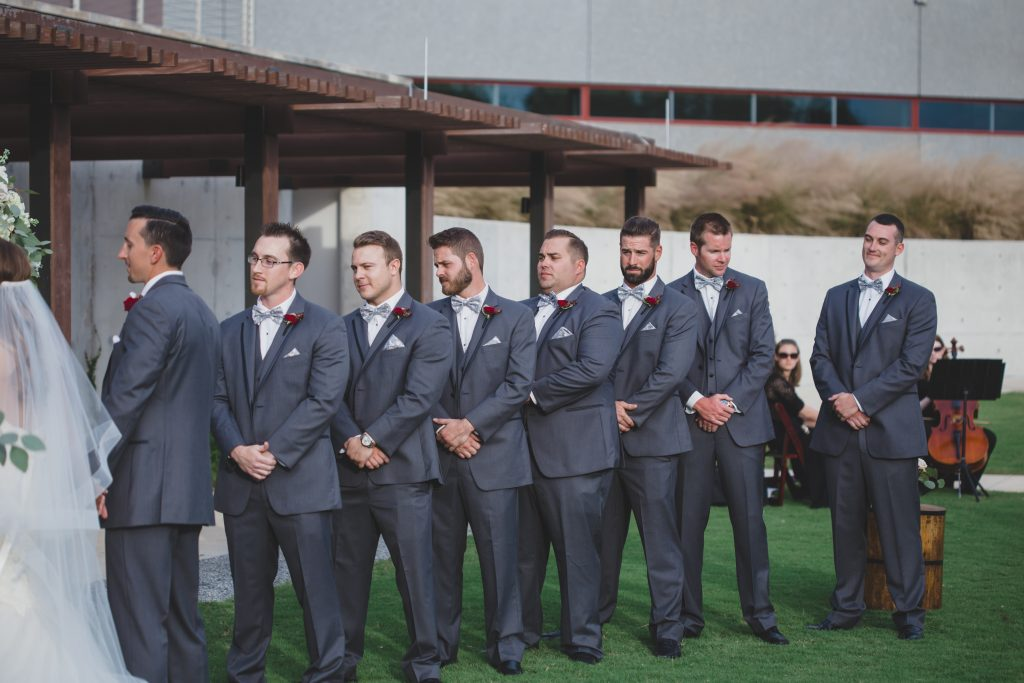 Groomsmen at ceremony | Rustic Chic Wedding Romantic Ashley Jane Photography Streamsong Resort Florida Orlando Wedding Planner Anna Christine Events
