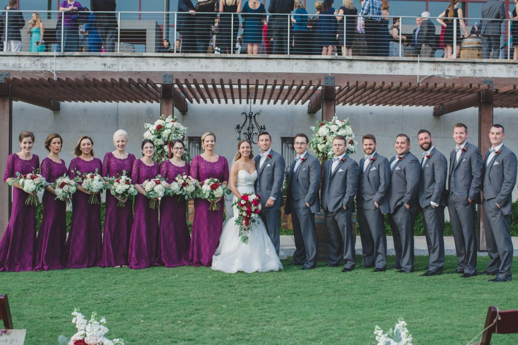 Bride & groom wedding party outdoor ceremony | Rustic Chic Wedding Romantic Ashley Jane Photography Streamsong Resort Florida Orlando Wedding Planner Anna Christine Events