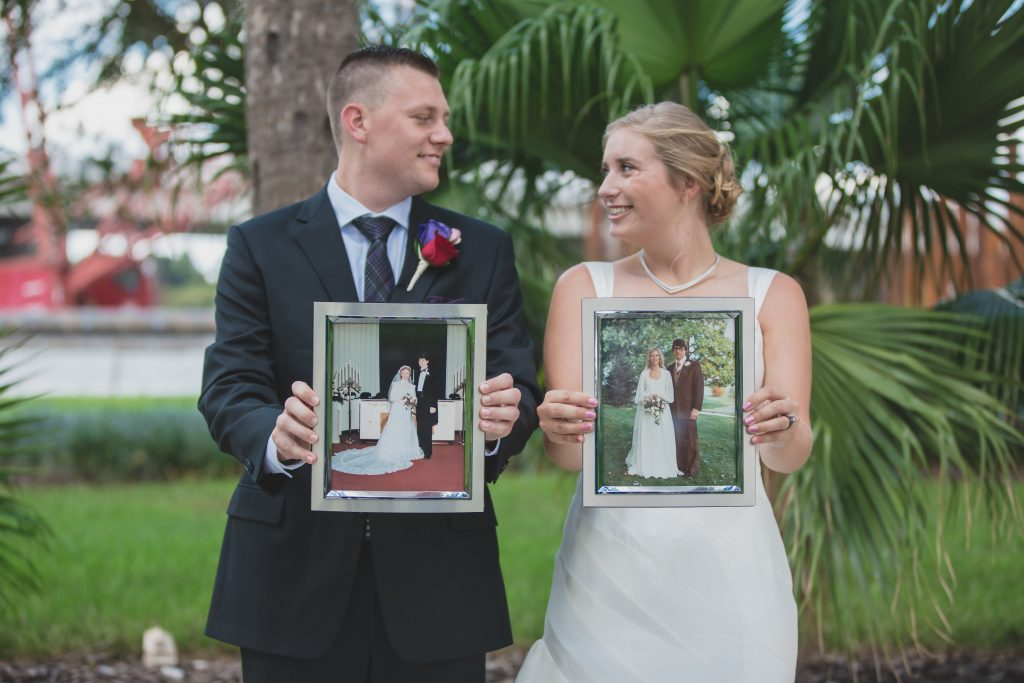 Bride & groom first look | Nerd Geek Chic Wedding Theme Game of Thrones Harry Potter Super Mario Orlando Science Center Anna Christine Events Orlando Wedding Planner Ashley Jane Photography
