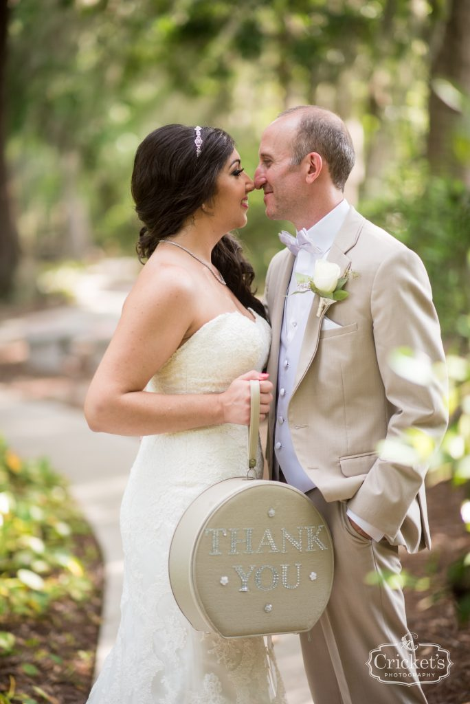Bride & Groom Suitcase Thank You | Travel Themed Inspired Wedding Mission Inn Resort Orlando Florida Anna Christine Events Cricket's Photo & Cinema